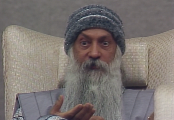 Rajneesh in Wild Wild Country. Image credit: Netflix.