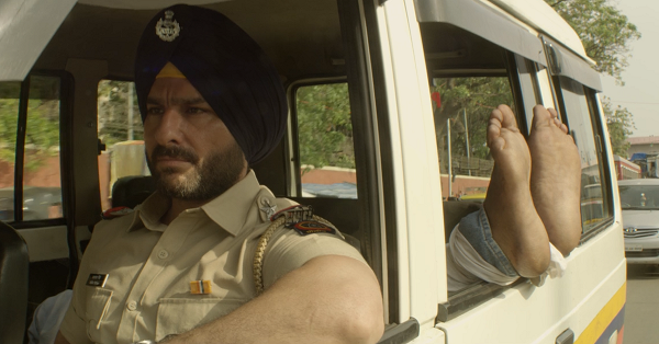 Saif Ali Khan as Sartaj Singh in Sacred Games. Courtesy Netflix.