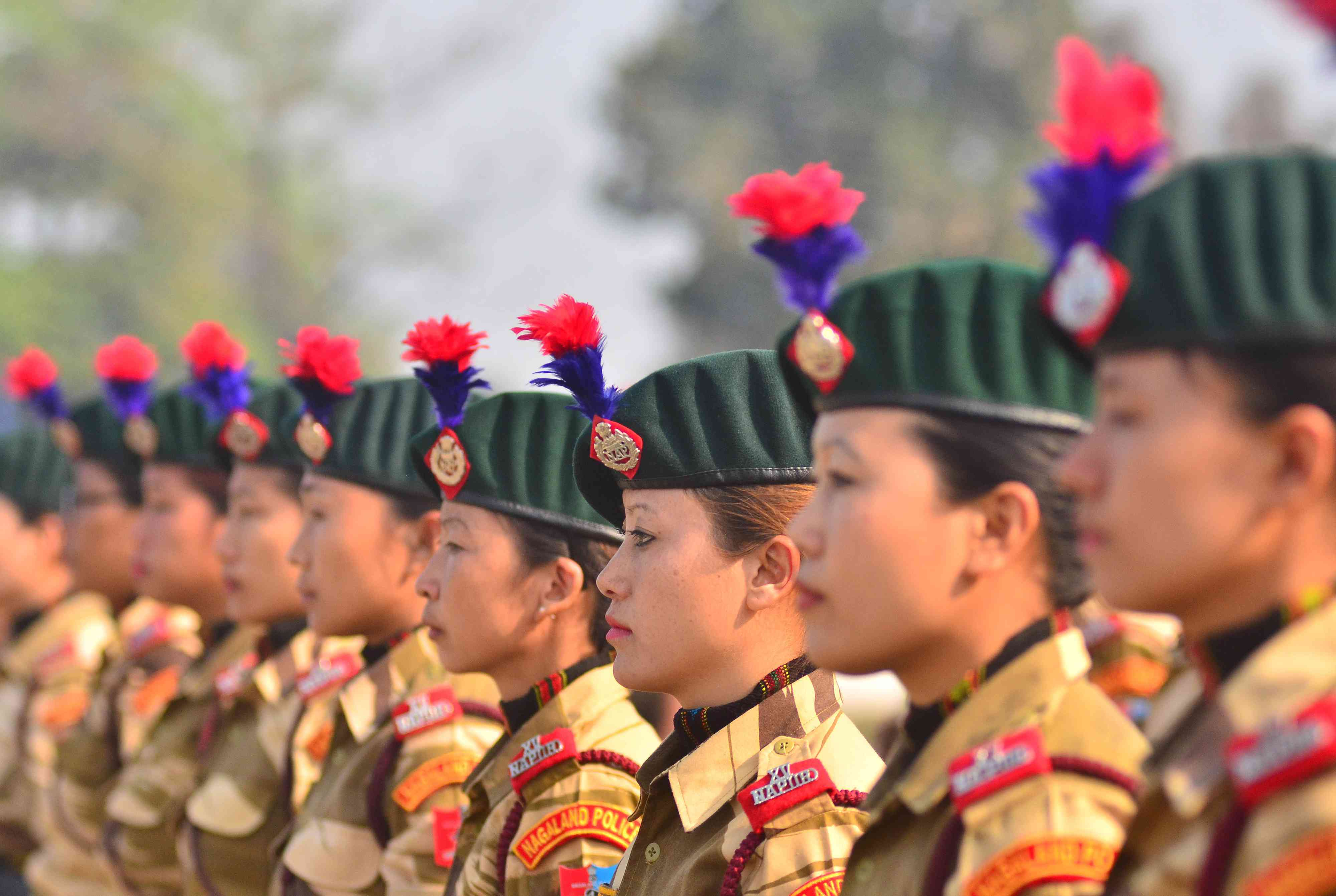 Women contingents from the India Reserve Battalion of the Nagaland Arm Police during Republic Day celebrations in Dimapur (Photo credit: AFP)