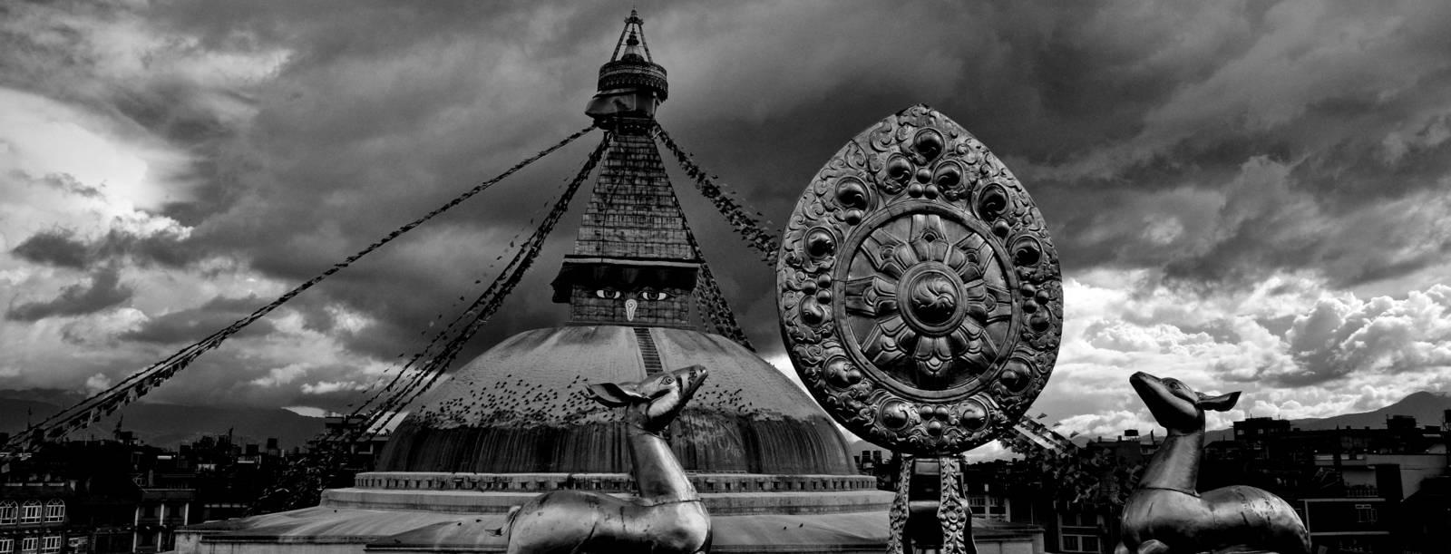 The chorten at Bodhnath, Kathmandu valley