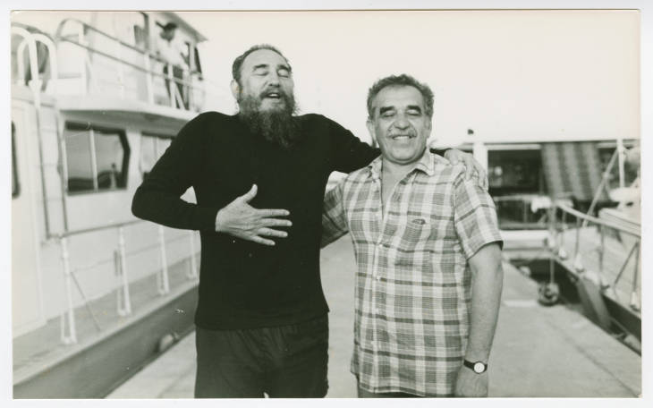 With Fidel Castro, undated (Harry Ransom Center at The University of Texas, Austin)