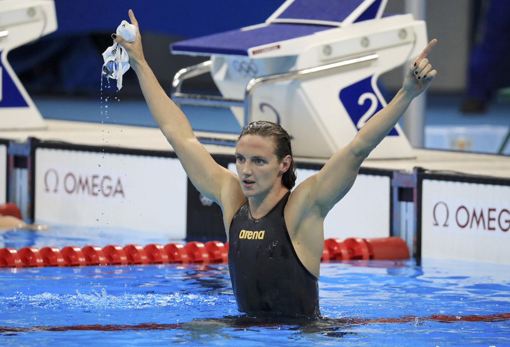 Hungary's Katinka Hosszu won gold and set a world record in the 400 metre individual medley. She also won two gold medals and one silver medal in three other events. Image credit: Dominic Ebenbichler / Reuters