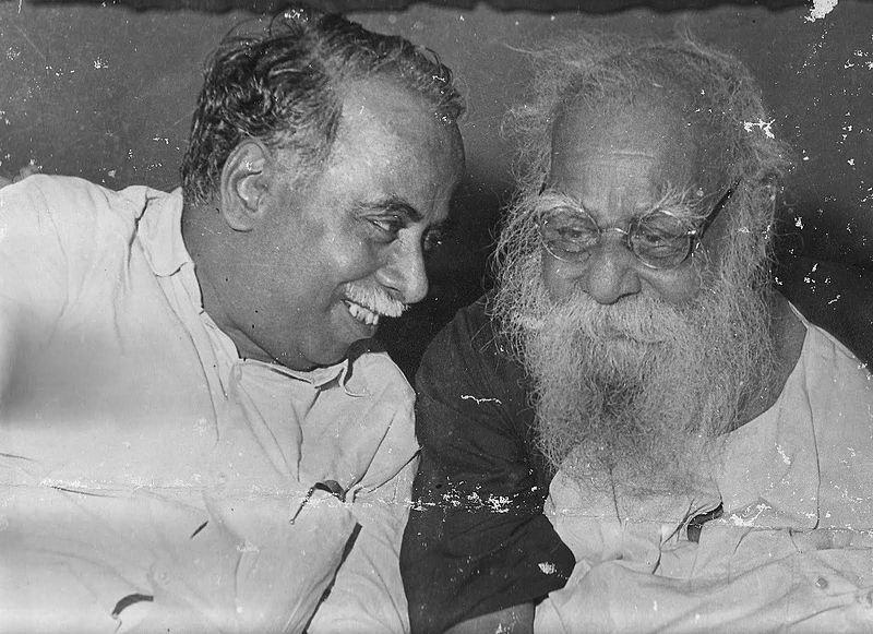 Former Tamil Nadu Chief Minister CN Annadurai and social reformer Periyar.