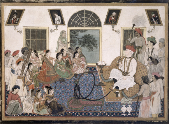 David Ochterlony (1758–1825) watching a nautch. Delhi, 1820 (BL Add.Or.2)
