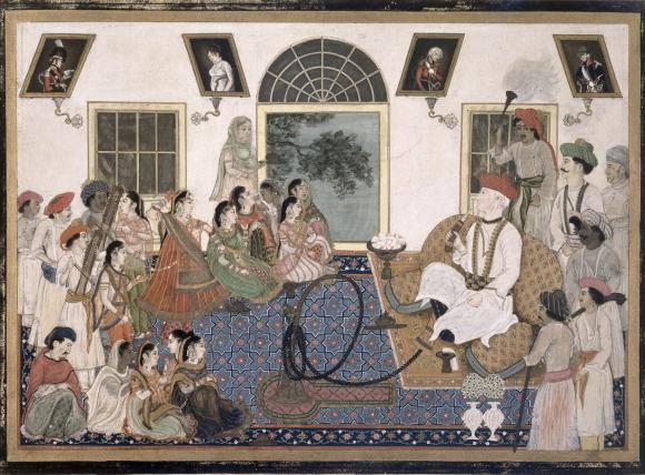 David Ochterlony (1758–1825) watching a nautch. Delhi, 1820 (BL Add.Or.2)