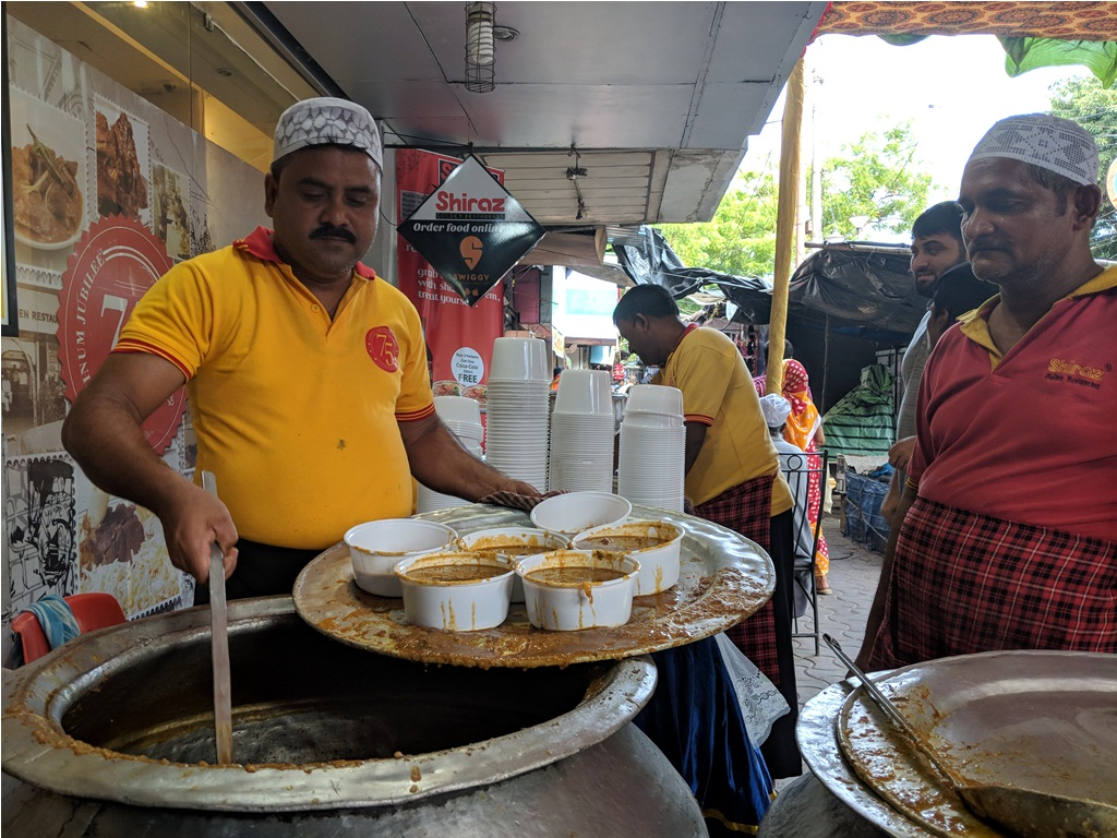 The haleem stall outside Shiraz.