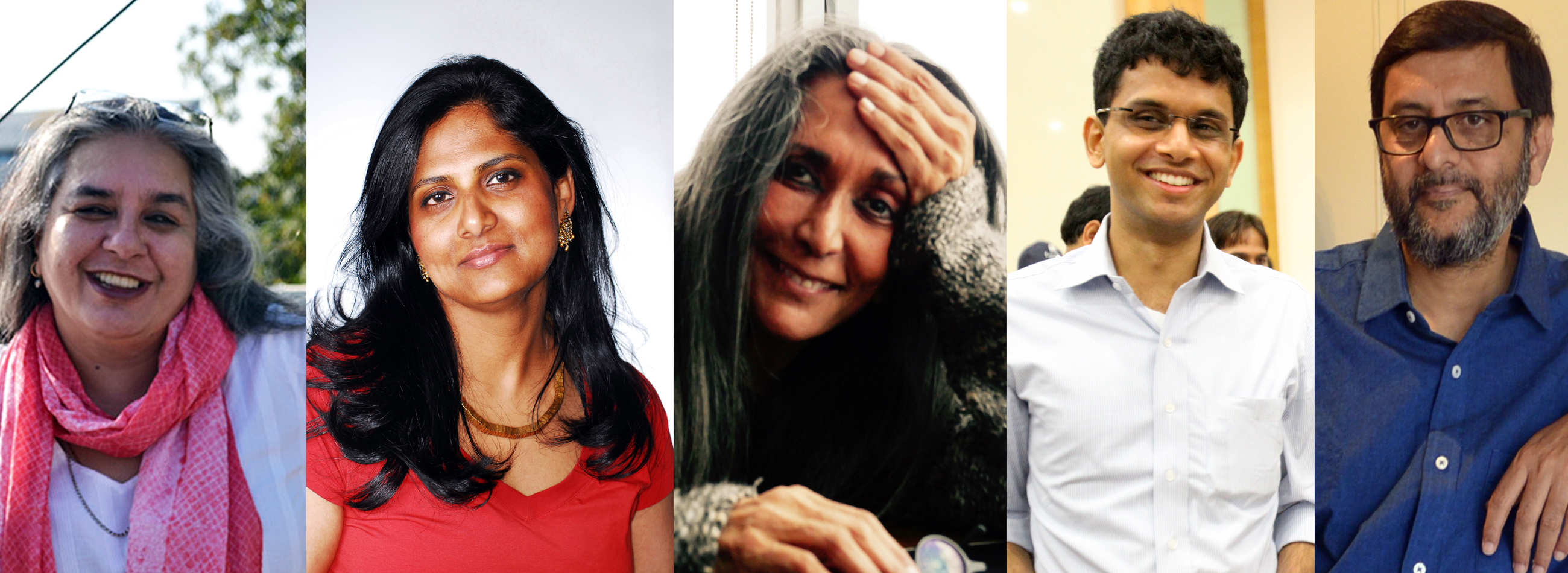 The Jury for the 2018 JCB Prize for Literature (From left to right): Arshia Sattar, Priyamvada Natarajan, Deepa Mehta, Rohan Murty and Vivek Shanbhag
