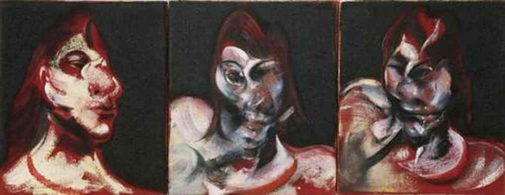 'Three Studies for the Portrait of Henrietta Moraes,' Francis Bacon, 1963.  Photo credit: MoMA