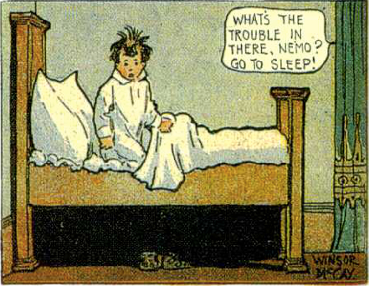 Little Nemo in Slumberland, the tale of a boy who has nightly adventures in his dreams, from 1906. Photo credit: Winsor McCay/Wikimedia Commons [Licensed under Creative Commons]