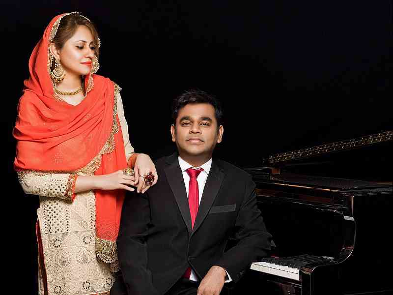 Saira Banu and AR Rahman. Courtesy Daboo Ratnani.
