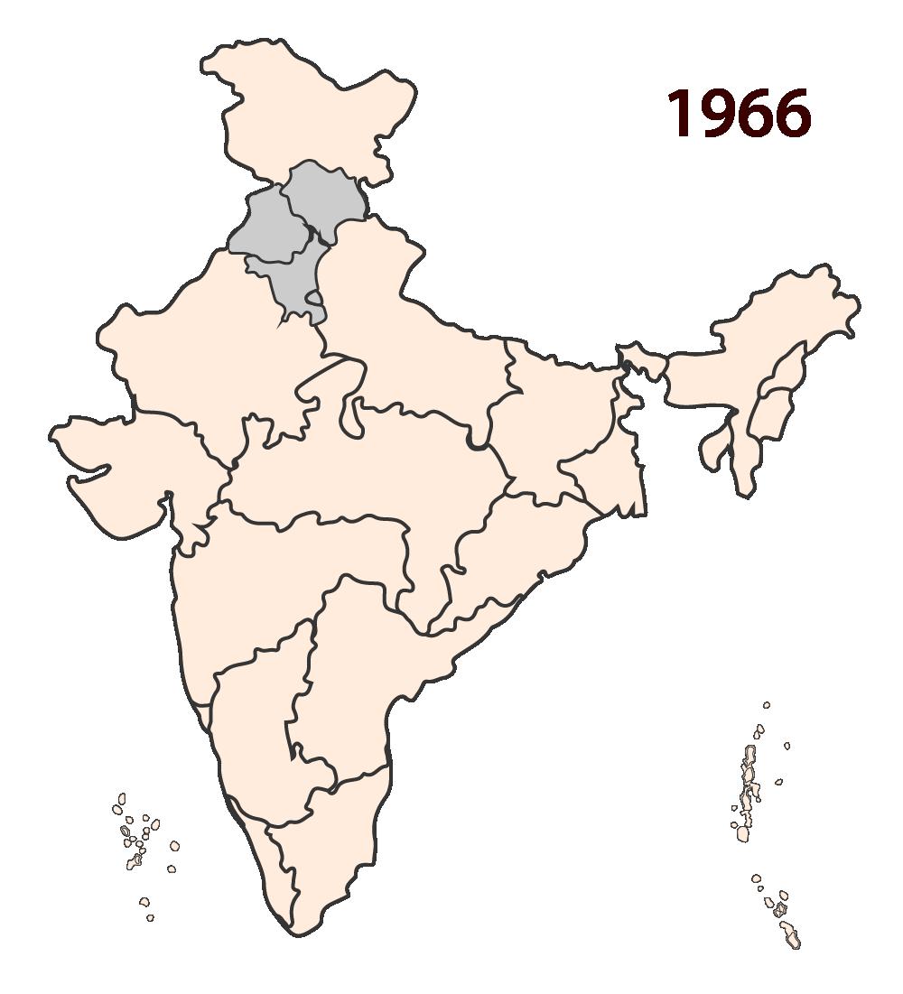 1966: Punjab and Haryana are separated.