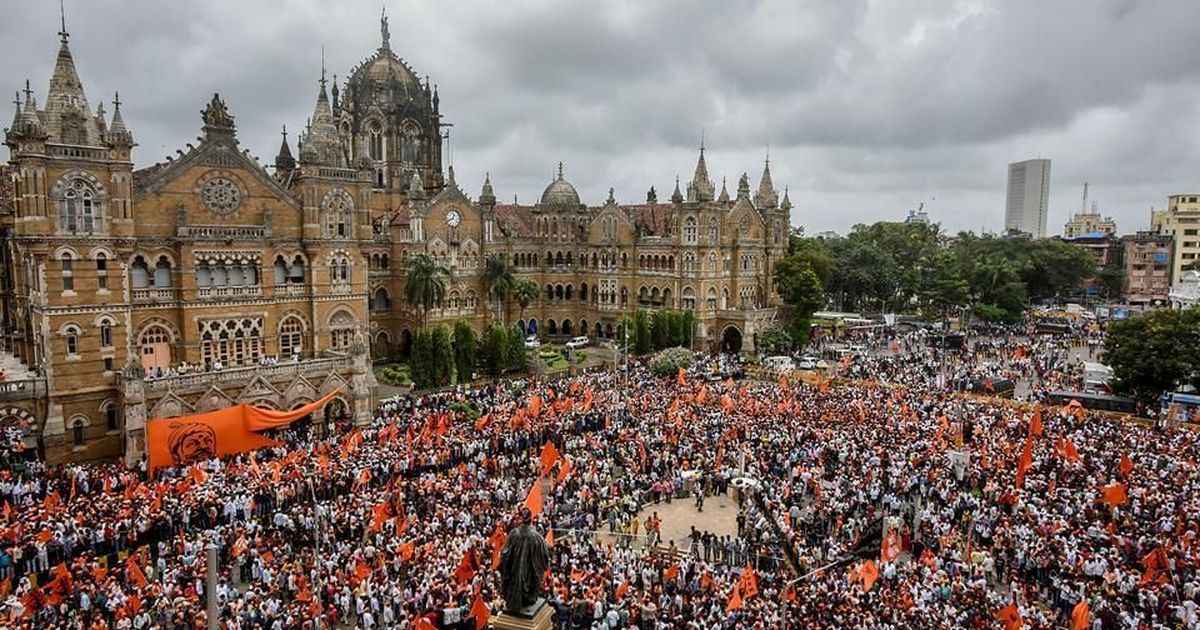 A Maratha rally in Mumbai in August, 2017. Credit: PTI.