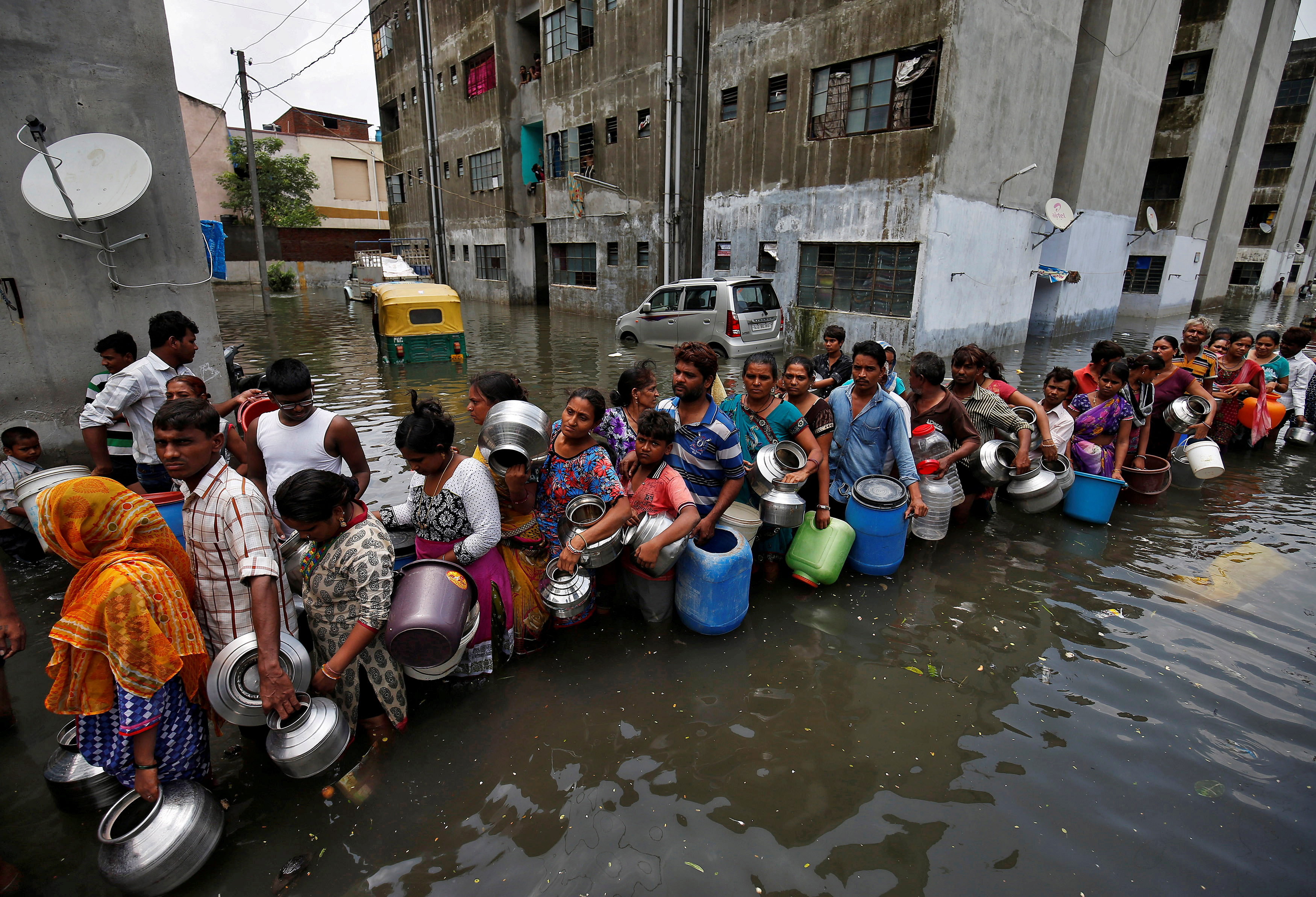 An unusually rough monsoon has left cities such as Ahmadabad more ramshackle than usual. Photo credit: Reuters
