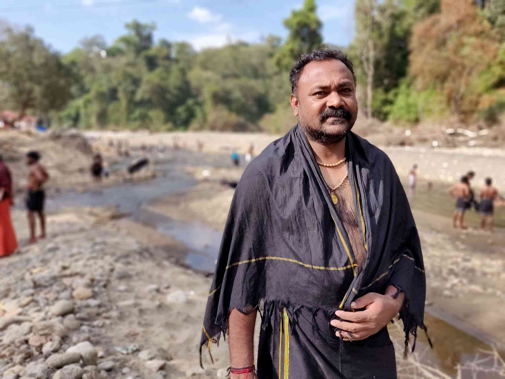 Saji Kumar said it is the duty of the pilgrims to reclaim the lost glory of the Pamba river. Photo credit: TA Ameerudheen