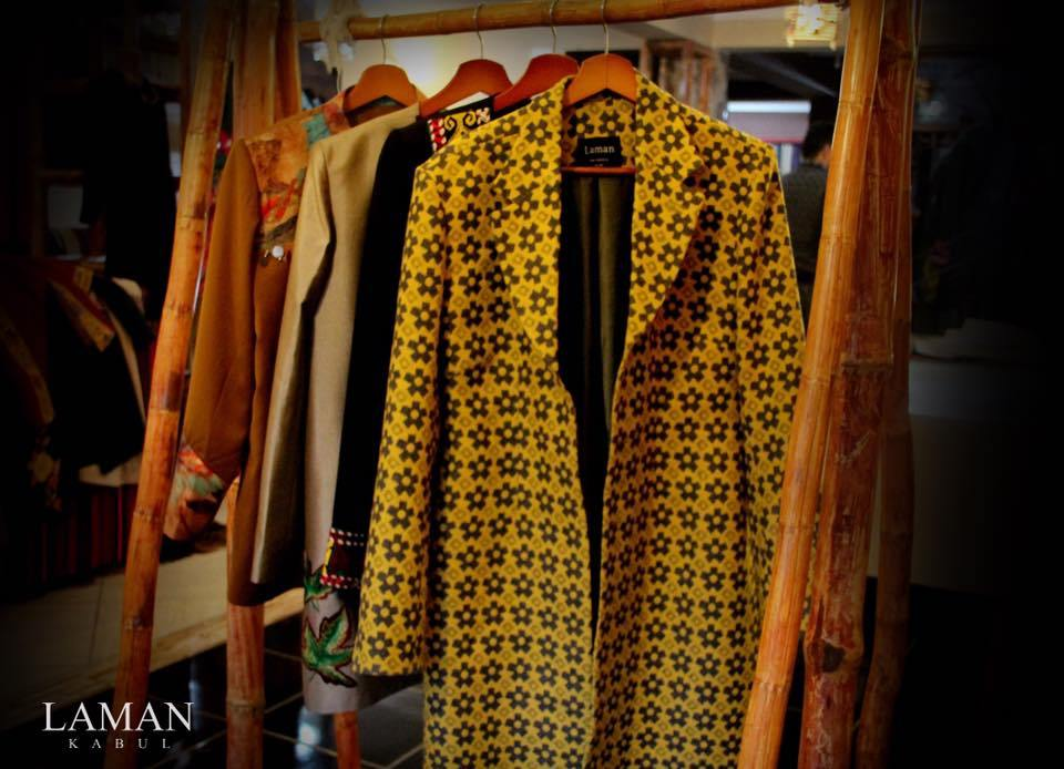 Coats on display at Laman. Photo credit: Laman/Facebook