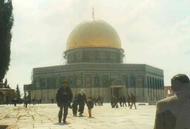 In Jerusalem at the Dome of the Rock. Photo credit: Owais Tohid