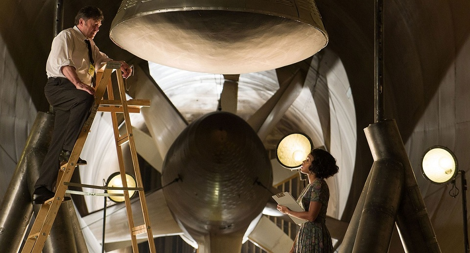 Janelle Monae (right) as space engineer Mary Jackson in Hidden Studios. Courtesy Fox Star Studios.