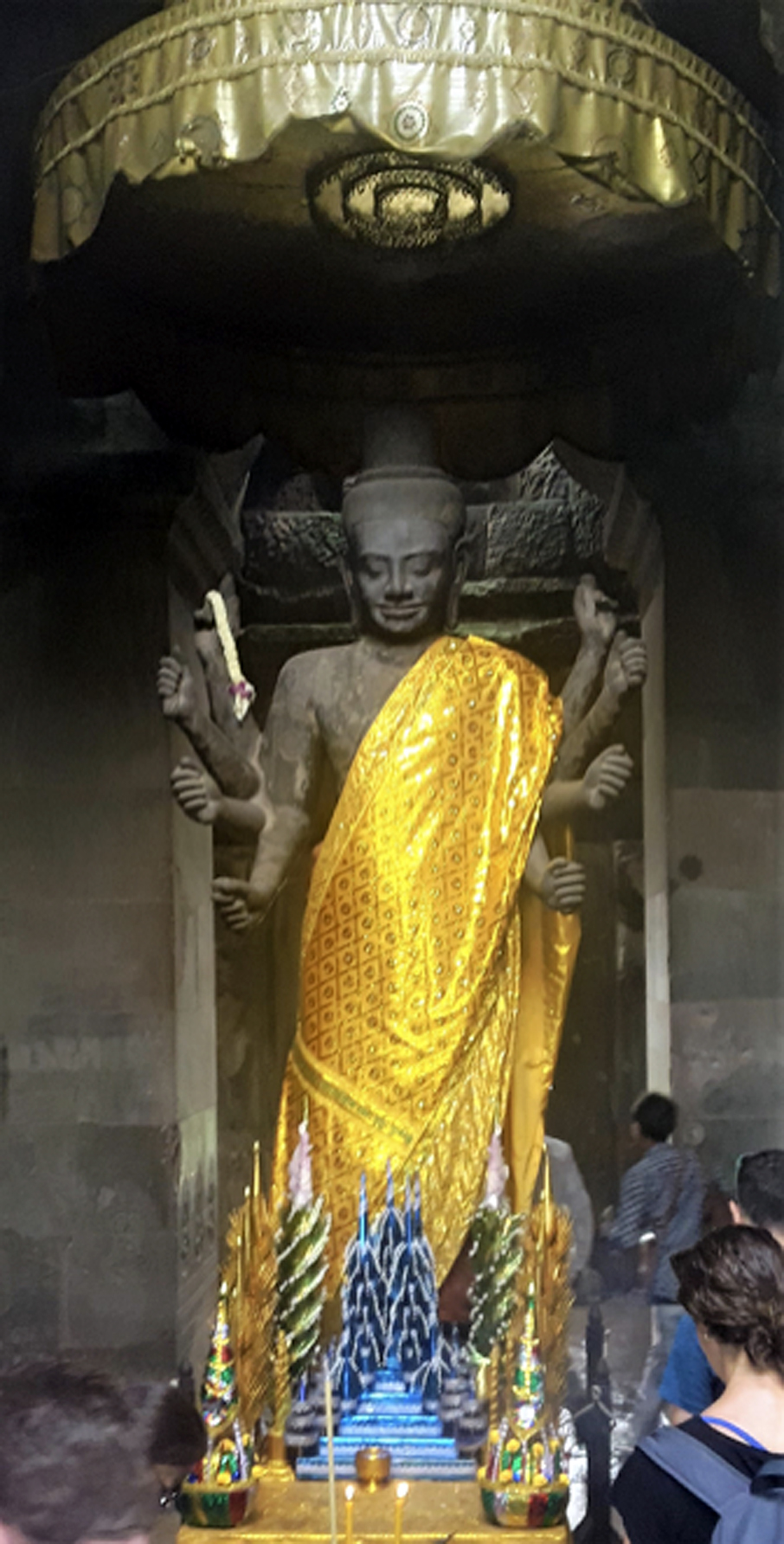 Ashtbhuja Vishnu at Angkor Wat. Photo credit: Selina Sen