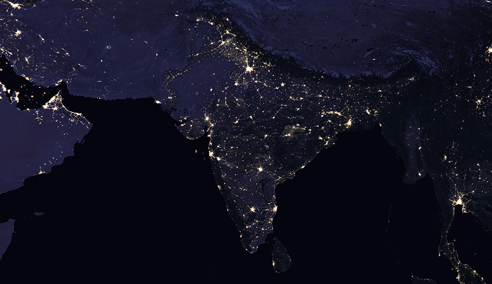 India night lights in 2012. Photo Credit: Nasa