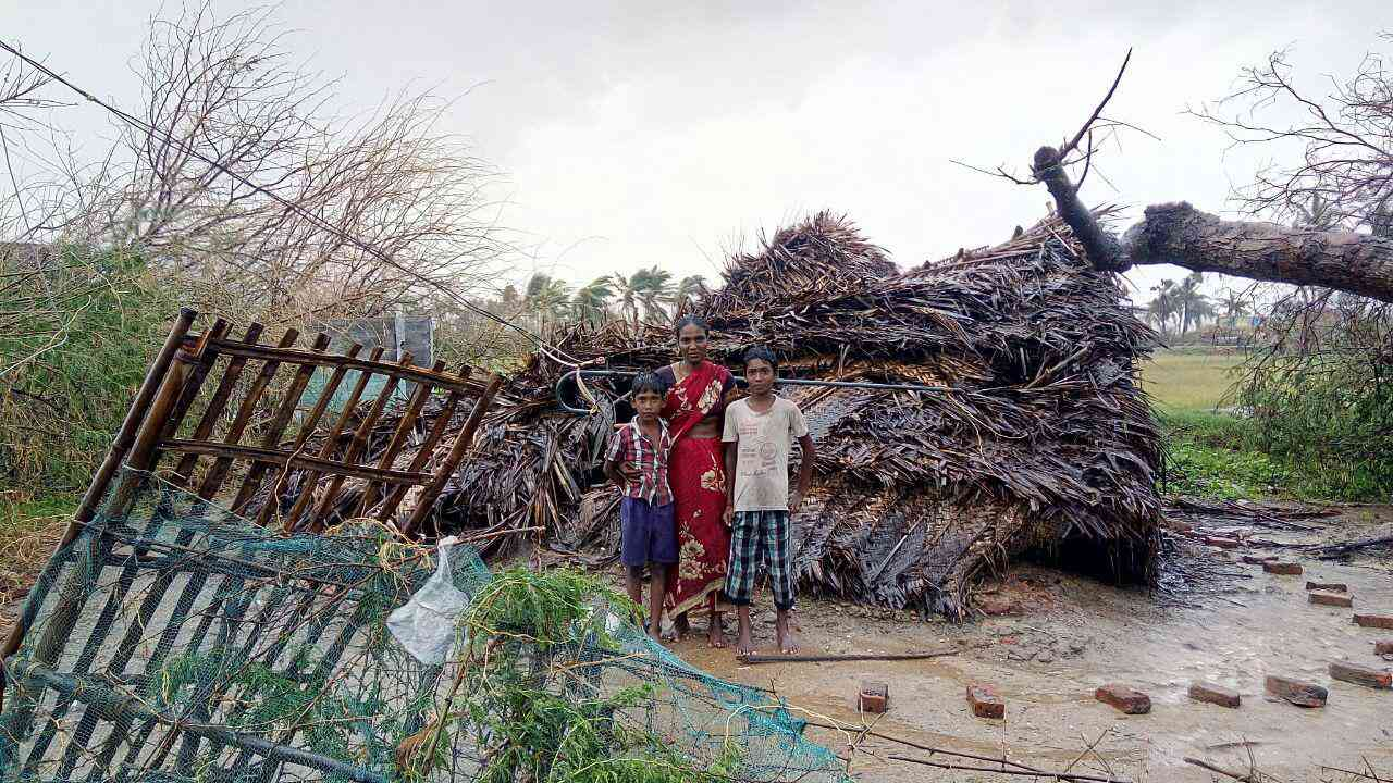 In Nagapattinam, 52% of its population lives in temporary or semi-permanent homes – most of which have sustained great damage in Cyclone Gaja.