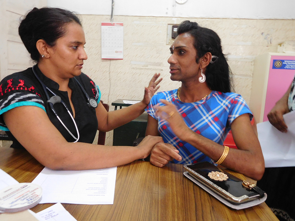 Consultation in progress at the multi-disciplinary transgender clinic at the Government Medical College Hospital at Kottayam on July 4. Photo credit: TA Ameerudheen
