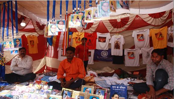 A shop outisde the Ravidas Janamsthan Mandir. Photo credit: Santosh K Singh.