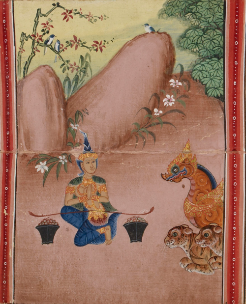 Thai illustrated manuscript of the Ten Birth Tales, 19th century. British Library, Or 16552, f. 52