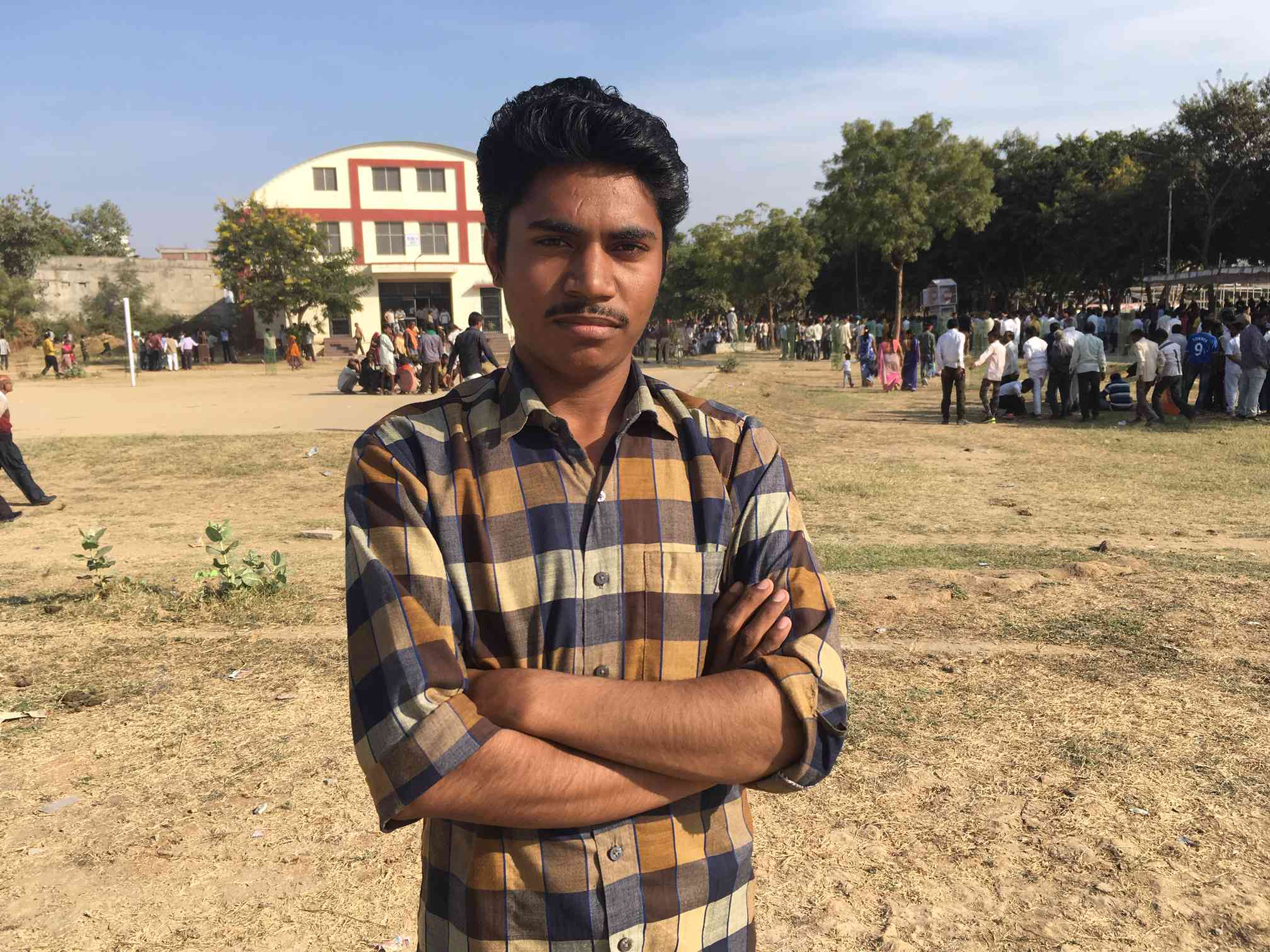 The son of a farmer, 18-year-old Mann Singh is studying to get a government job.