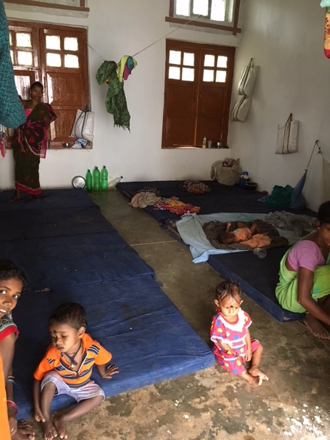 Floor beds at the Nutrition Rehabilitation Centre in Malkangiri where mothers and children adjust in small rooms. Photo: Priyanka Vora.