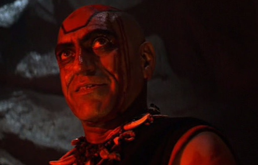 Amrish Puri in Indiana Jones and the Temple of Doom (1984).