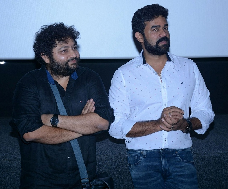 Lijo Jose Pellissery (left) and Vijay Babu at the screening of Angamaly Diaries (2017) in Mumbai in April.