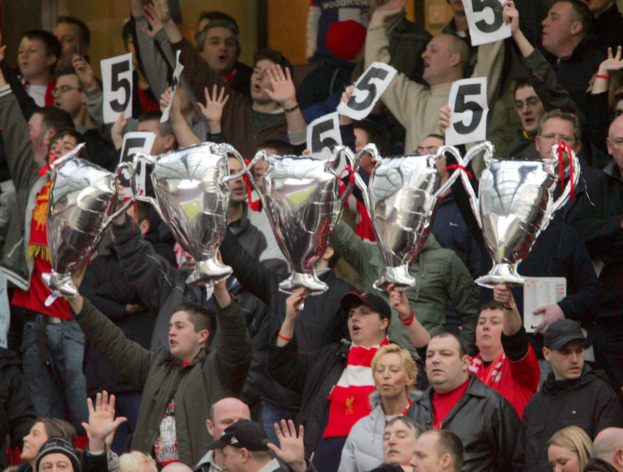 Liverpool's five European Cup/Champions League triumphs remain a source of angst at Old Trafford (Image: AFP)