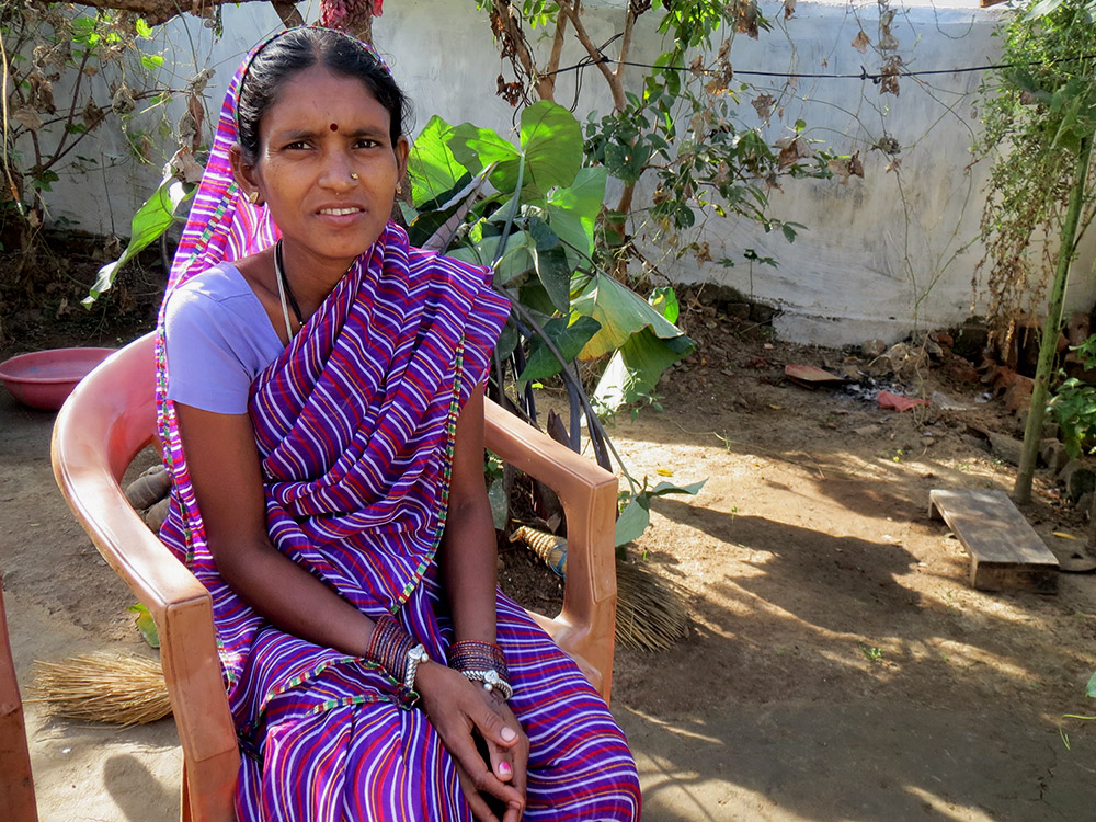 Nirmala Gond is not unsure if she will be able to receive her maternity benefits during her ongoing pregnancy since she has not been able to correctly enroll in Aadhaar.