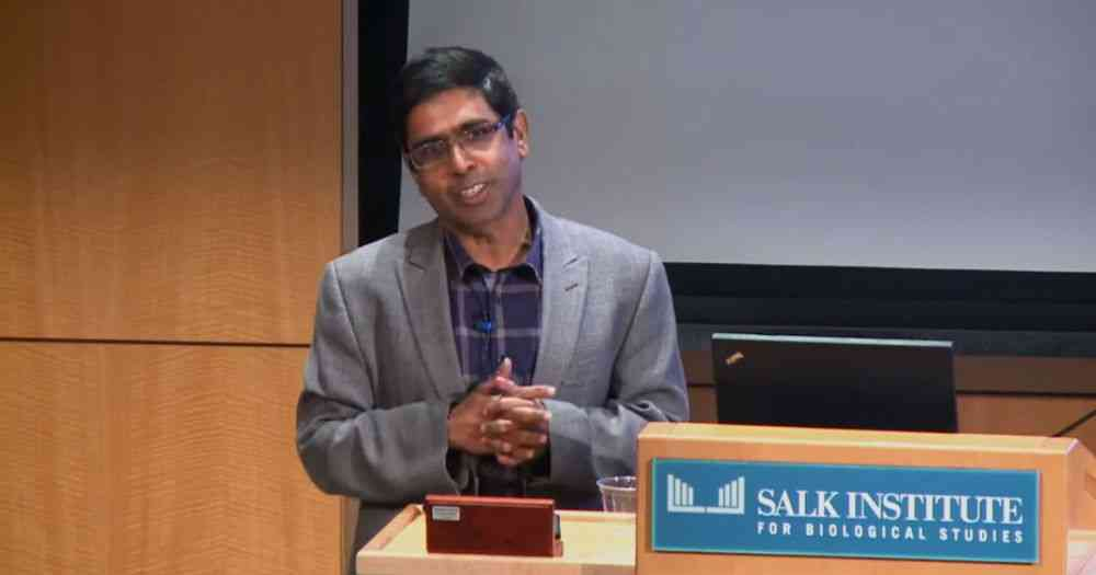 Professor Satchidananda Panda. Image courtesy: Salk Institute/via YouTube.