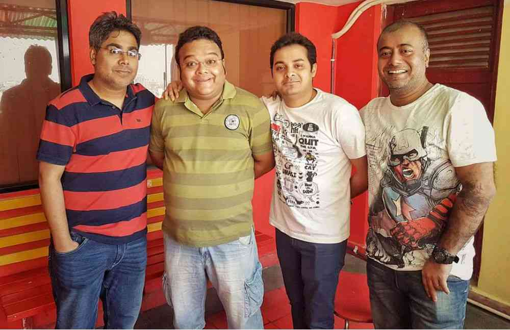 (From left to right) Mir Afsar Ali, RJ Deep, RJ Somak and Richard Debnath. Photo credit: Mirchi team.