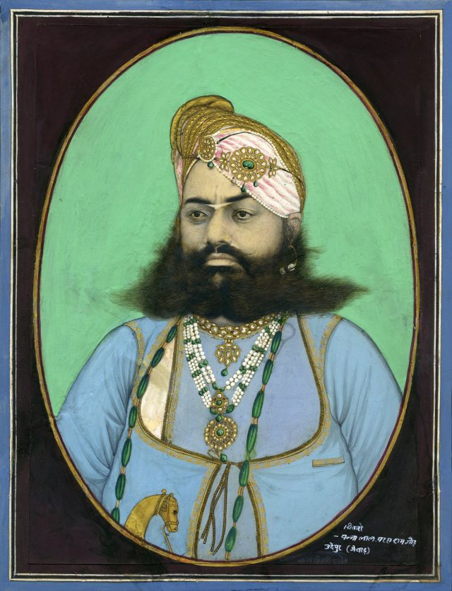 Court photographer, Pannalal Parasram Gaur, Maharana Swarup Singh of Udaipur (1815-1861), 1860. Photo credit: © Alkazi Foundation for the Arts