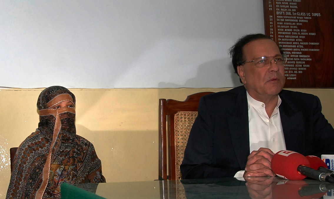 Punjab Governor Salman Taseer was assassinated for his support of Asia Bibi, a Christian woman accused of blasphemy and sentenced to death. (Credit: Asad Karim / Reuters)