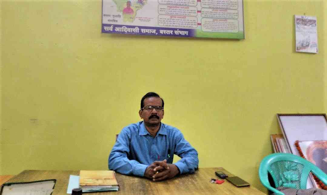 Prakash Thakur, president of the Sarva Adivasi Samaj in Bastar. Photo credit: Malini Subramaniam