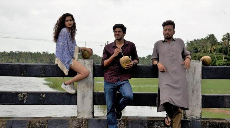 Mithila Palkar, Dulquer Salmaan and Irrfan in Karwaan. Courtesy RSVP.