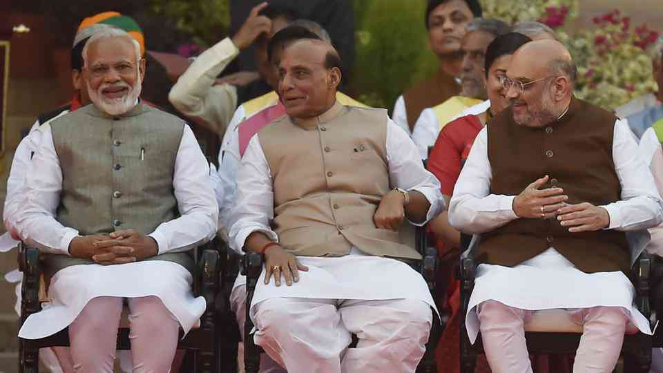 India's new defence minister, Rajnath Singh (middle), should make safety a priority. Credit: HT Photo