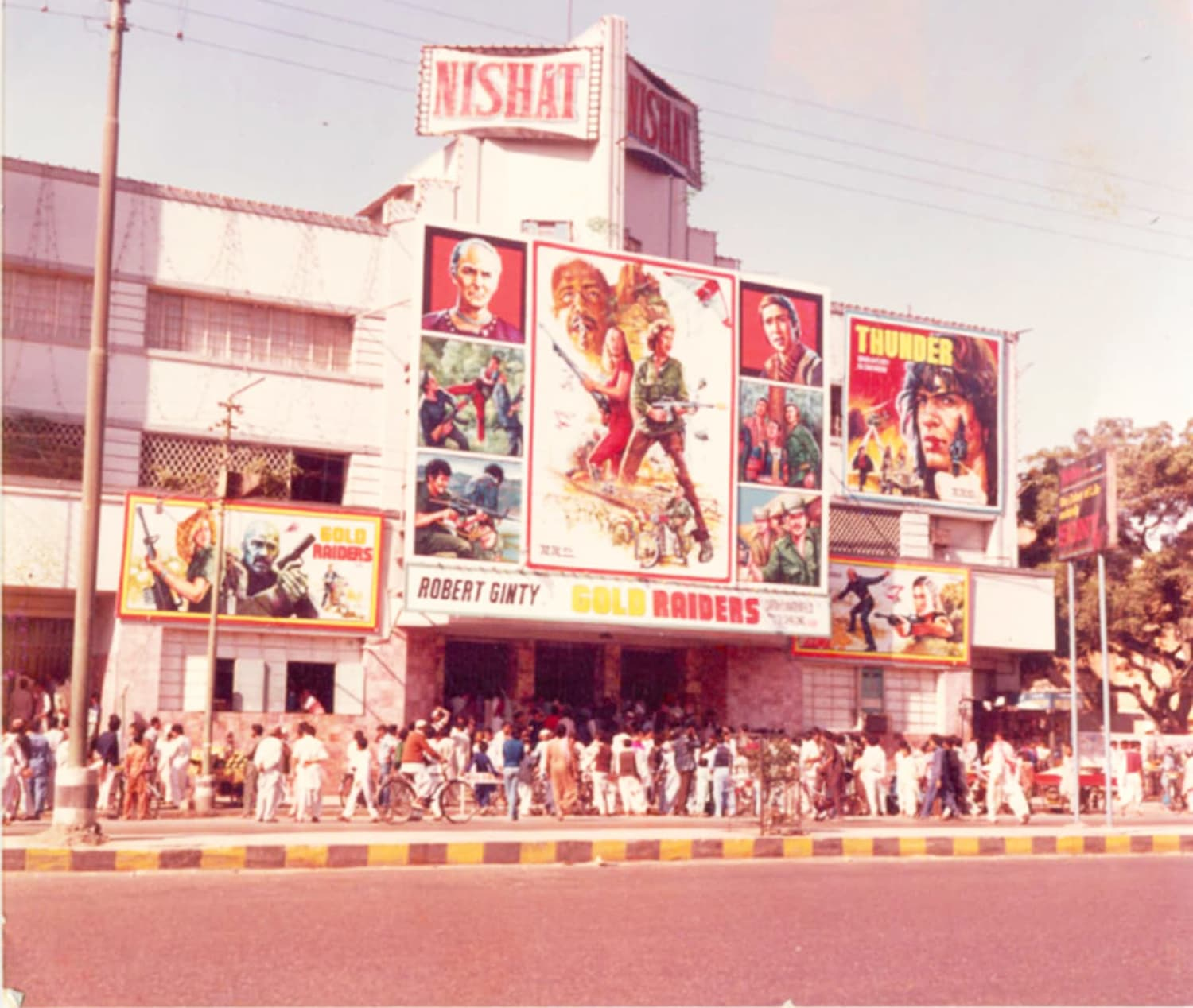 Karachi's famous Nishat Cinema in 1974.