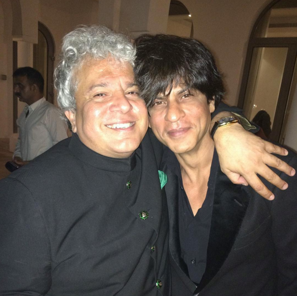 With Shahrukh Khan. Image courtesy: Image courtesy: Facebook/Suhel Seth. November 15, 2015.
