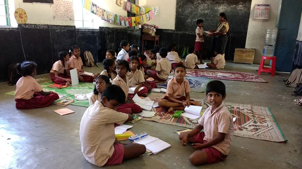 Since most elementary school teachers speak English with difficulty, the classes are English medium in name only. Photo credit: Anjali Mody