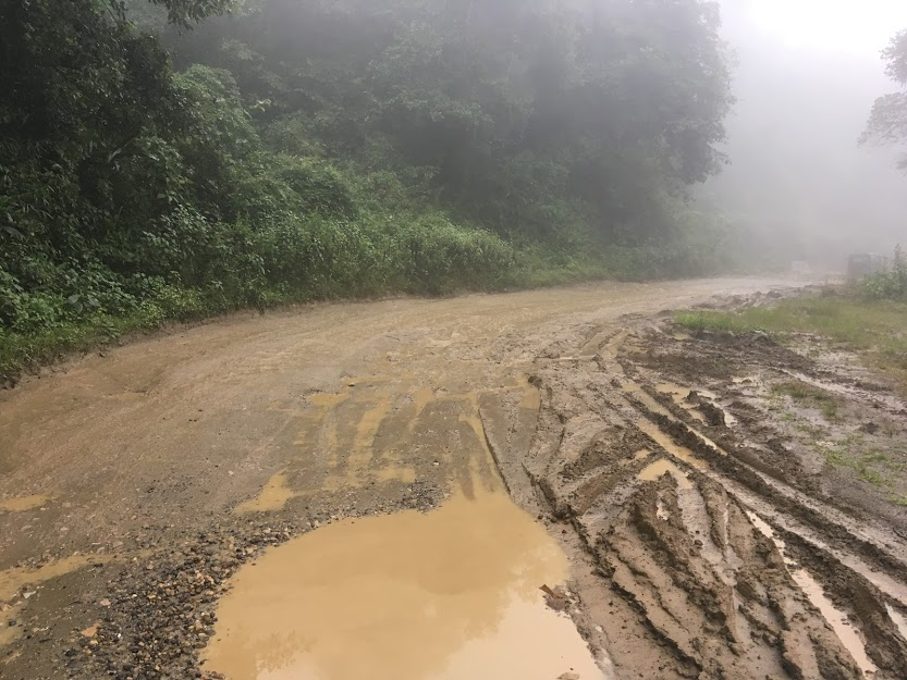 The three-hour drive from Manipur's capital Imphal to Ukhrul has long stretches of bad road. (Photo: Neha Abraham)