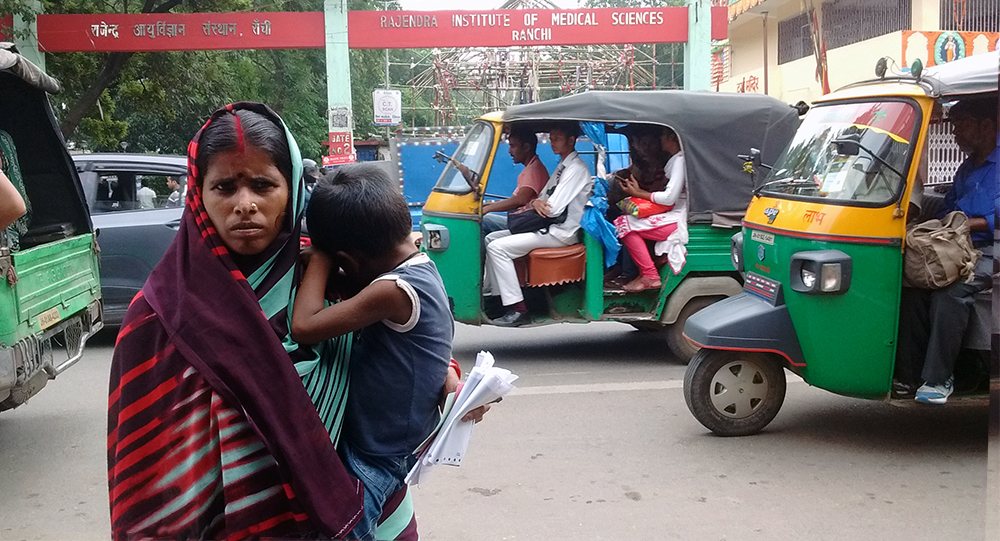 Nearly 150 patients come to the outpatient department of RIMS everyday. Several families come to the hospital from Purulia in West Bengal, 150 kilometers away. They usually arrive at the hospital at midnight on Friday after traveling by train.
