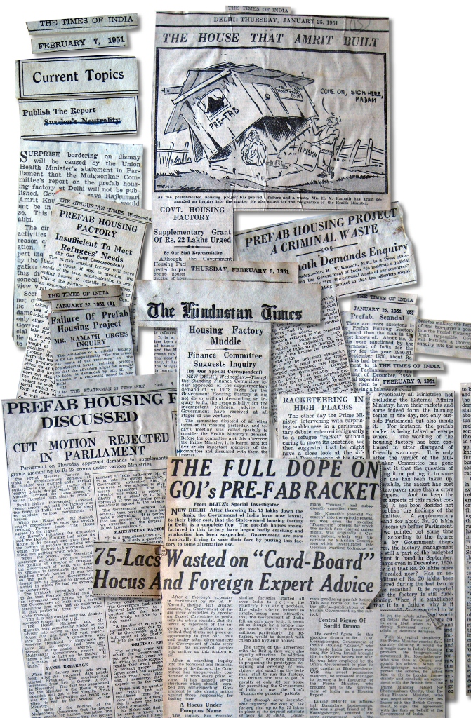 Press clippings on the scandal, 1951.