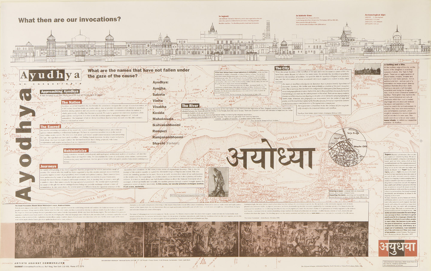 The 1992 poster about the Babri Masjid demolition in Ayodhya, designed by Ram Rahman.