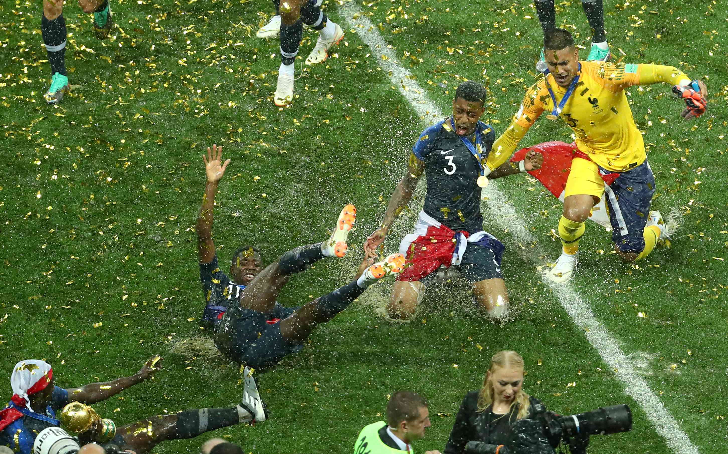 French players celebrate after winning the World Cup (Reuters)