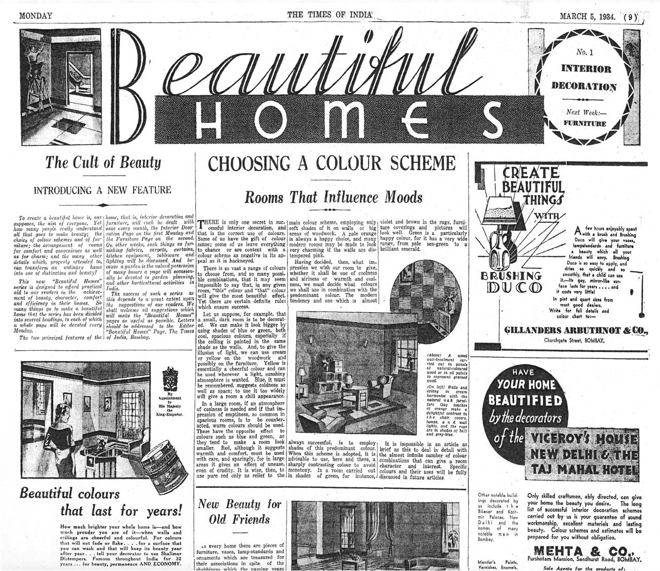 Vintage ads: How Mumbai home decor was transformed by a global ...