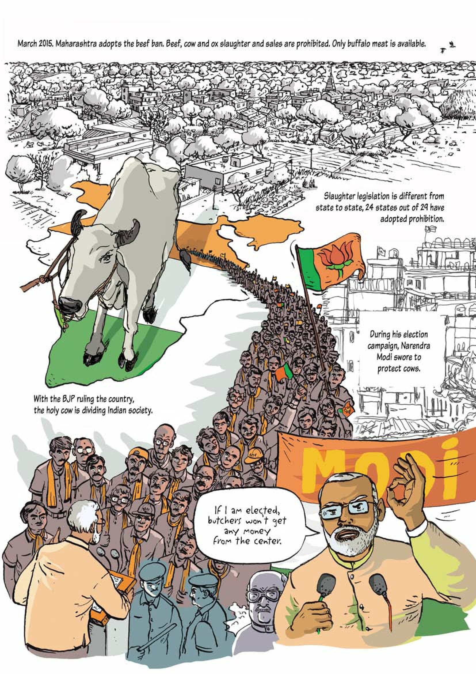 A French Comic Book Illustrates Hindutvas War On Beef And Its